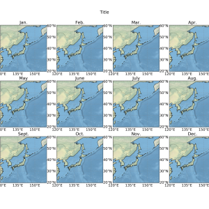 Cartopy-月ごとにマップを分割しよう