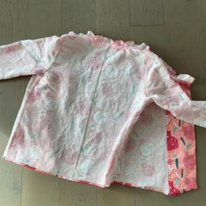 「Butterick」B6225 パジャマの上着 Work-In-Progress 3
