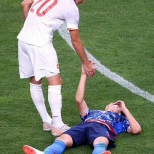 残念( ノД`)…サッカー日本代表。3位決定戦へ。