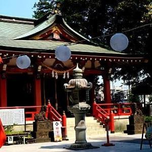 越谷香取神社の狛犬たち
