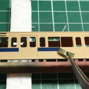戸袋窓付き最後の103系 広ヒロB-09編成の製作 その3