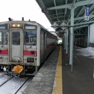 2日目その2 宗谷本線4323D 板切れの駅や豊清水駅など★冬のきた北海道フリーパスの旅