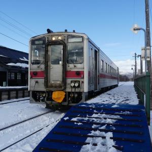 3日目その5 天塩中川駅軒下でセイコーマートのカツ丼を食う ★冬のきた北海道フリーパスの旅