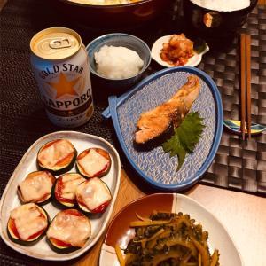 あっさり和食で晩酌。