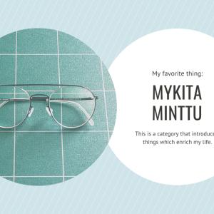ネジのないミニマルな眼鏡「MYKITAのMINTTU」。