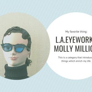 眉毛のあるサングラス。【l.a.Eyeworks】