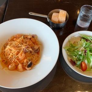 10kmラン、フランツカフェで昼食