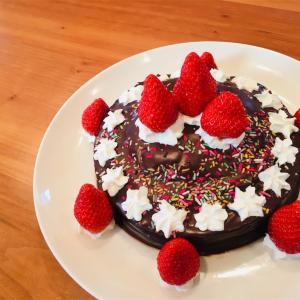 小学生向けチョコケーキ作り