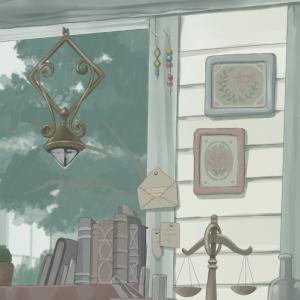研究室を描く ~ランプと壁周りの小物を描く~