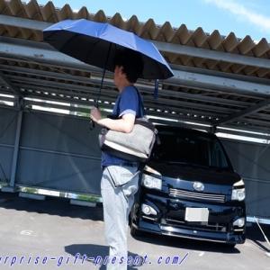 男性用折り畳み日傘使ってみた!熱中症・日焼け・日光アレルギー対策に