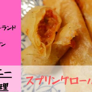 [ディズニー再現レシピ] スプリングロール/ピザ @東京ディズニーランド・トゥーンタウン 写真で料理解説!