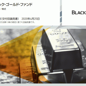 ブラックロック・ゴールド・ファンドの保有期間リターン