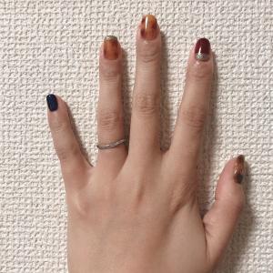 【kin209】セルフネイル新調【赤い月・赤い月 音1】
