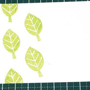 【消しゴムはんこ】木の葉を彫ってみる
