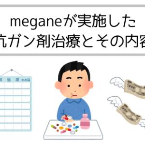 meganeが実施した抗ガン剤治療とその内容(副作用、期間、費用など)