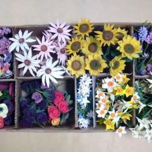 ハンドメイド・粘土の花たち