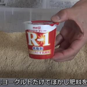 ぼかし肥料ヨーグルト(R-1)で作ればアンモニア臭の心配無用