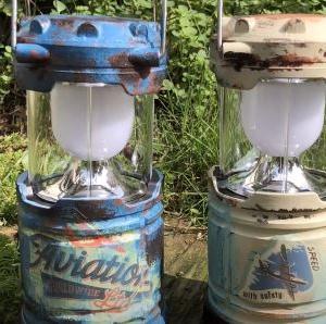 【サビ塗装】ダイソーのLEDランタンがベテランのキャンプ道具に変身