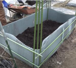 【土づくり】ぬかるみ土壌改良 畔シートで高畝に【家庭菜園向け】