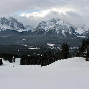 零下30℃のスキー場