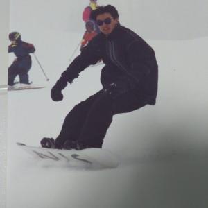 発見! スノーボードの雄姿ww