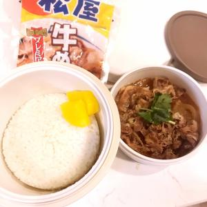 お弁当づくり、3分クッキング(^ω^)