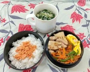 タケノコと鶏肉のうま煮弁当