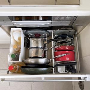 【キッチン】掃除ついでにコンロ下収納のご紹介