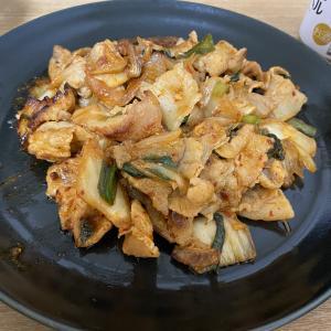 【簡単レシピ】白だしで作る豚キムチ