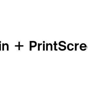 【Win + PrintScreen】スクリーンショットの保存場所を変える