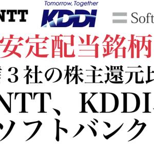 【安定配当の代名詞】NTT、KDDI、ソフトバンクの配当金分析