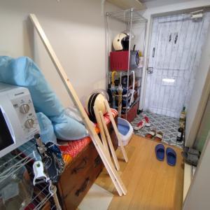 クローゼットの扉DIYしたら幅を間違えた|断捨離リノベーション
