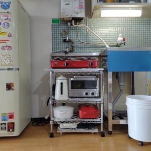 キッチンのセルフリノベ中‖メタルラックをアレンジして、DIYでガス台作成