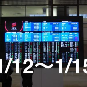 2020年1月12日〜1月15日 相場振り返り・保有銘柄と売買報告