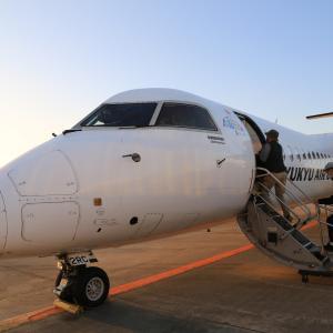 JALアイランドホッピングツアー(9) NU883(RAC883)便 那覇→久米島(2020.10.2)