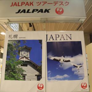 日本航空JL524便 新千歳空港チェックイン(2020.10.10)