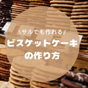 【超簡単】サルでも作れるビスケットケーキの作り方