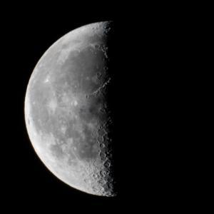 天体観測 二十日余の月 火星 木星 土星