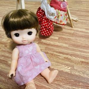 お人形のお洋服かけを作ったよ