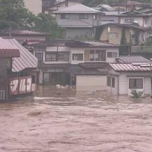最上川氾濫