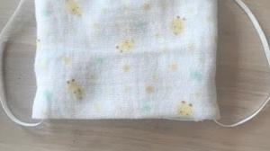 1本の直線縫いだけで作る子供用ガーゼマスク