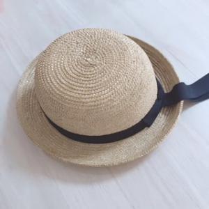 幼稚園の園帽子(麦わら帽子)をリメイク