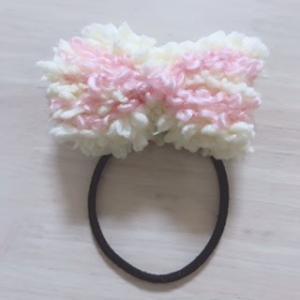 余った毛糸でヘアゴム作り