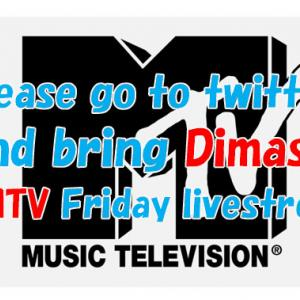 Please go to twitter and bring Dimash to MTV Friday livestream!