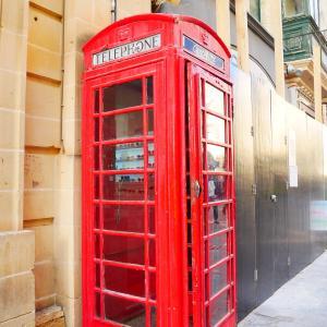 【マルタ】バレッタにある赤い電話ボックスがかわいい!インスタ映え間違いなし!