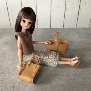 【セリア購入品】クラフトキットのバッグがリカちゃんにぴったり♡