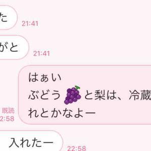 ぶどう🍇と梨 東京の雅へ🤗「送ったけん^^」【親バカエピソード】