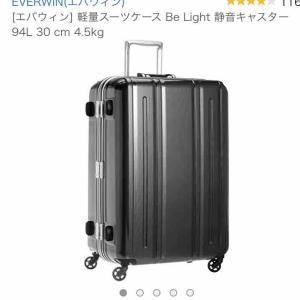 ついに買ってしまった!!90L超えのスーツケース