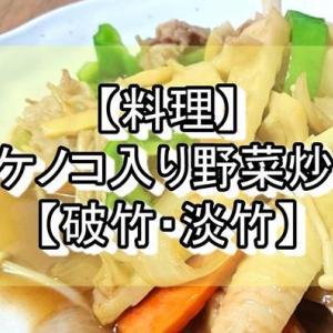 【料理】タケノコ入り野菜炒め【破竹・淡竹】