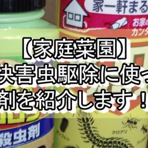 【家庭菜園】不快害虫駆除に使った薬剤を紹介します!!